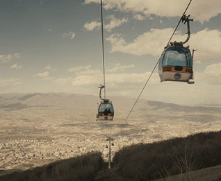 cable cars overlooking skopje