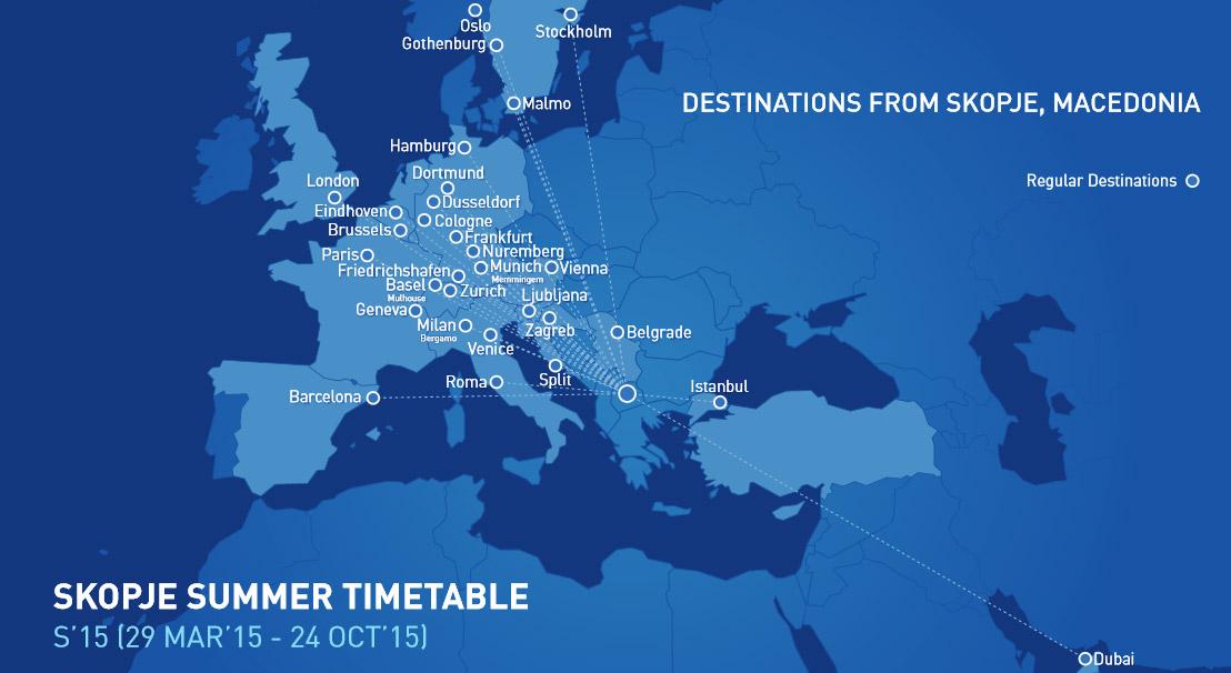 Flights to Skopje and Macedonia